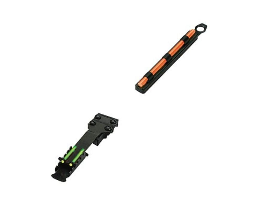 HIVIZ TomBuster II Sight Set for Shotguns with Vent Rib & Removable Front Bead Fiber Op...