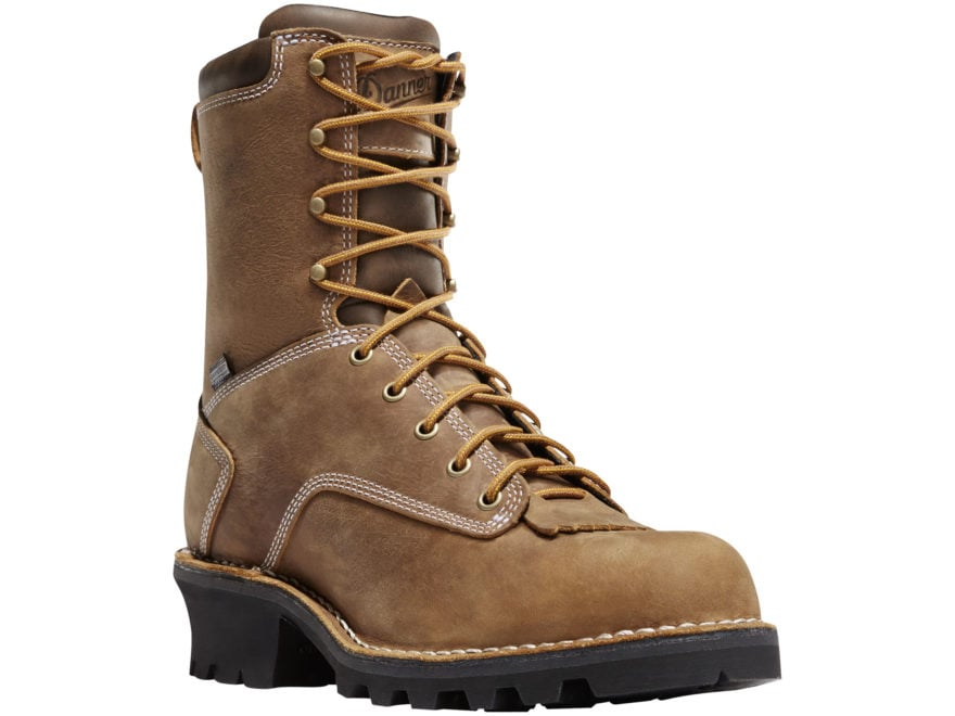 "Danner Logger 8"" Non-Metallic Safety Toe Work Boots Full-Grain Leather Men's"