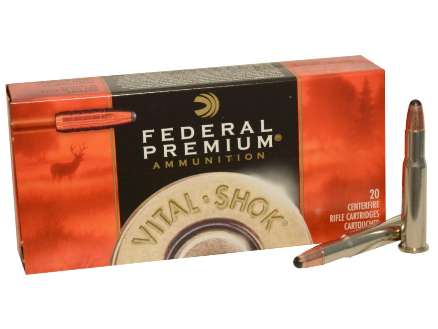 Federal Premium Vital-Shok Ammunition 30-30 Winchester 150 Grain Trophy Copper Lead-Fre...
