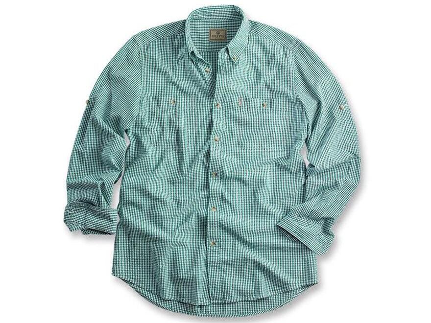 Beretta Men s Seersucker Shirt Long Sleeve Cotton - UPC  082442711492 f35a66ad6
