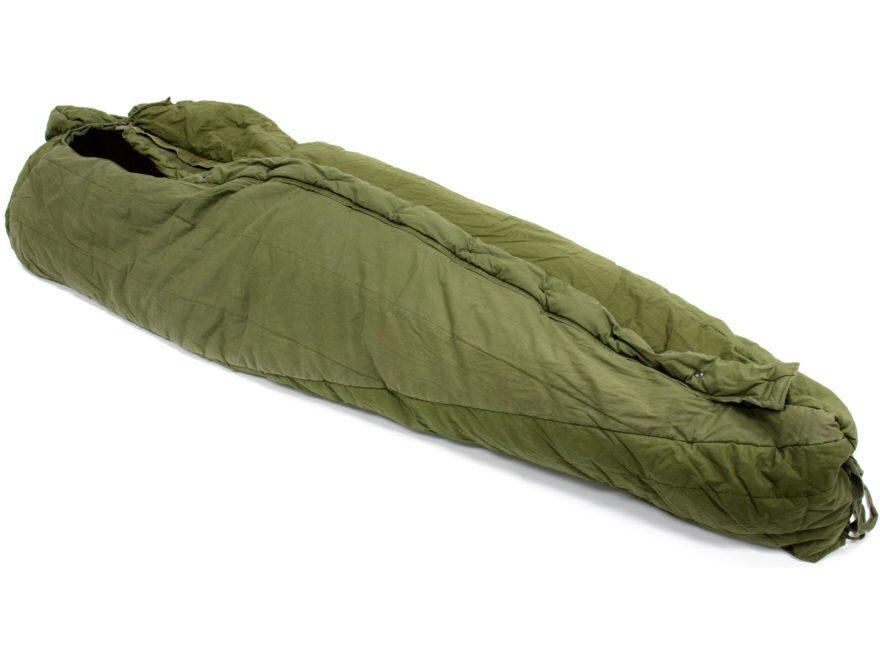 Military Surplus Intermediate Cold Weather Sleeping Bag Grade 2 Olive Drab