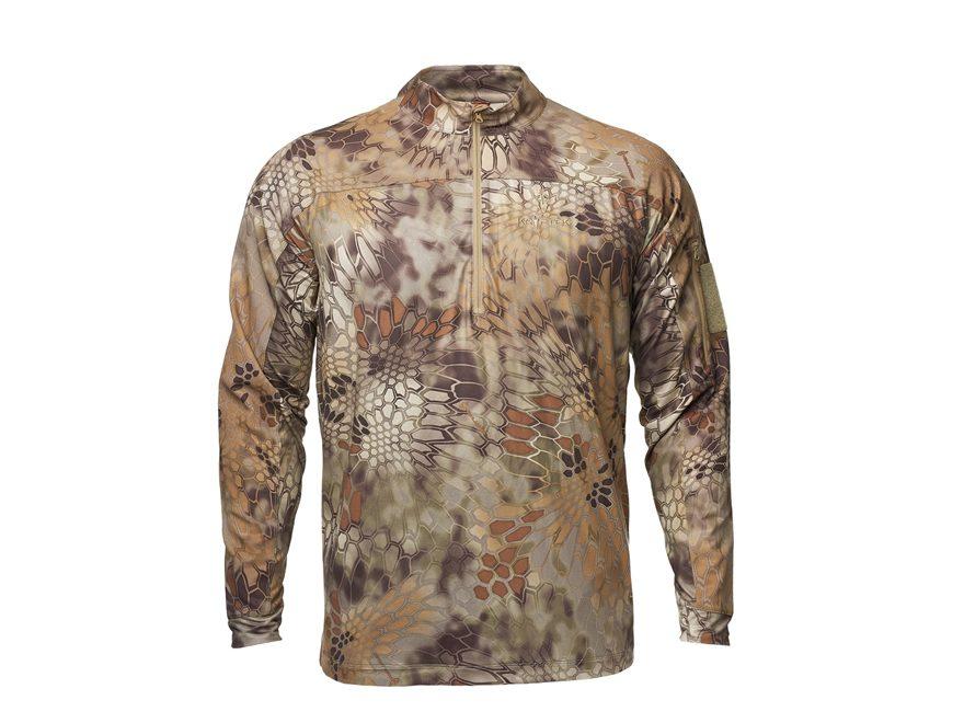 Kryptek Men's Valhalla 1/4 Zip Shirt Long Sleeve Polyester/Spandex