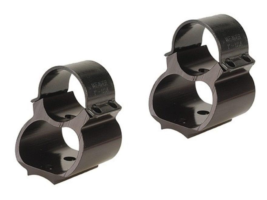 """Weaver 1"""" Steel Lock See-Thru Ring Mount Remington 740, 742, 760 Black"""