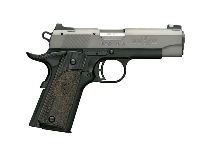 "Browning 1911-22 Black Label Compact Pistol 22 Long Rifle 3.62"" Barrel 10-Round"