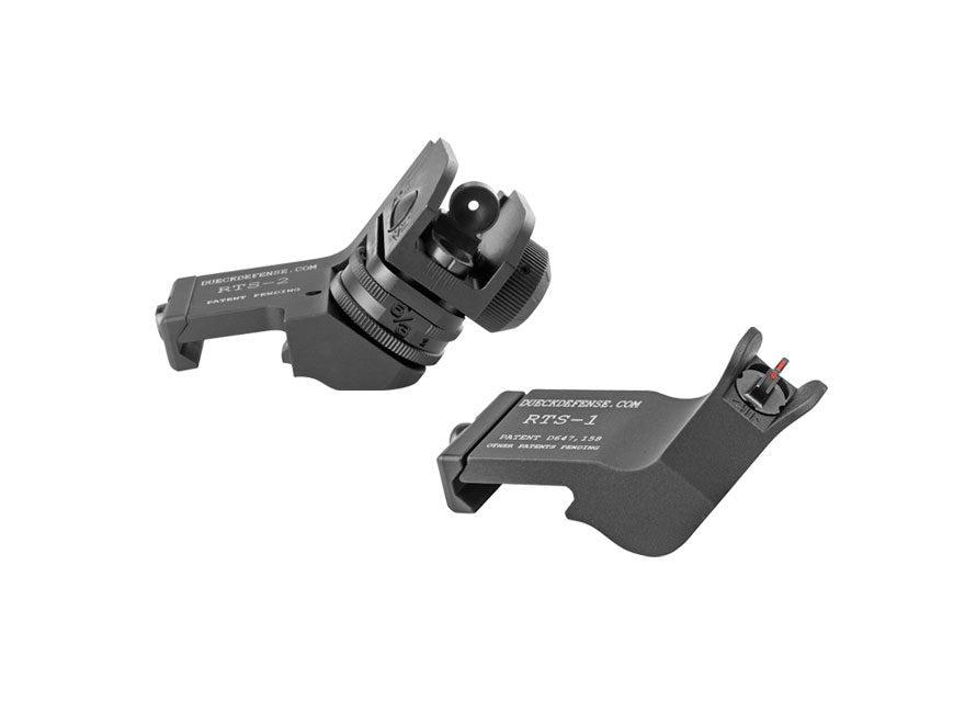Surefire Rapid Transition Sight Offset Sight Set AR-15 Fiber Optic 3-Dot Aluminum Matte