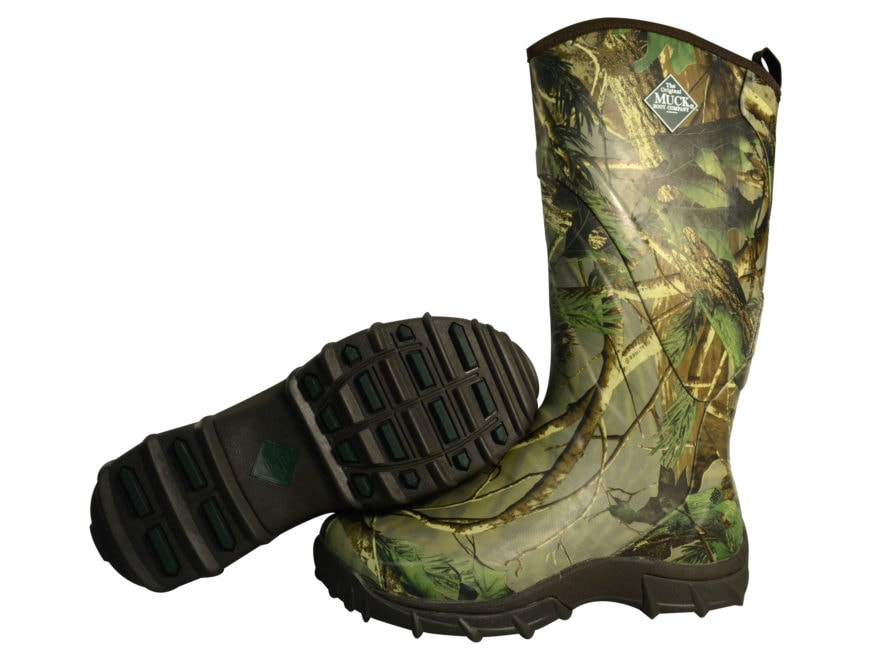 "Muck Pursuit Snake 17"" Hunting Boots Rubber and Nylon Realtree APG Camo Men's"