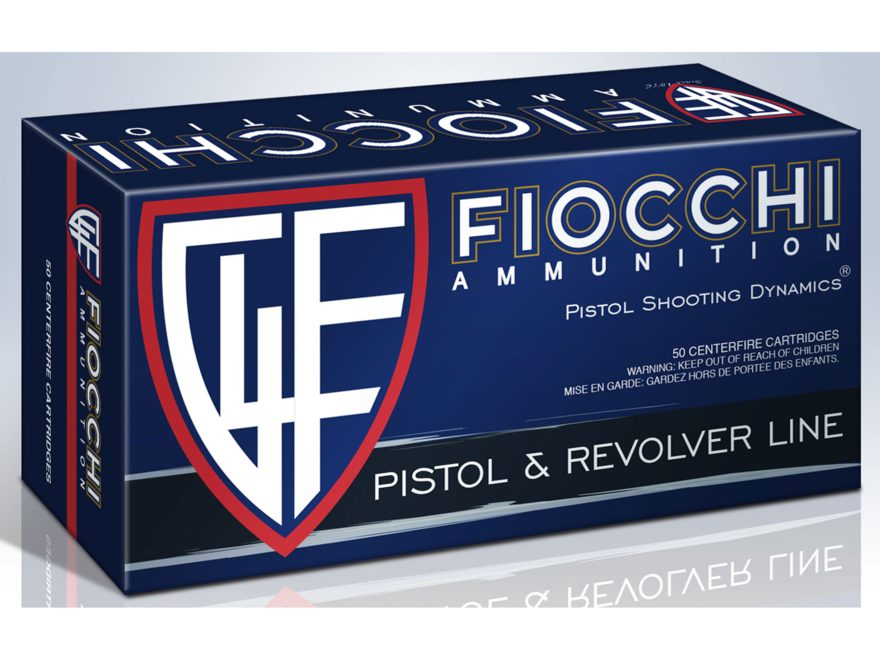 Fiocchi Shooting Dynamics Ammunition 10mm Auto 180 Grain Jacketed Hollow Point Box of 50