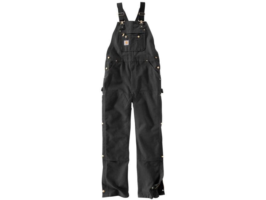 Carhartt Men's Unlined Zip To Thigh Bib Overalls Cotton