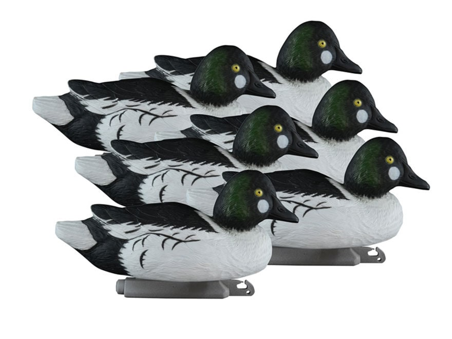 Higdon Standard Foam Filled Goldeneye Duck Decoy Polymer Pack of 6