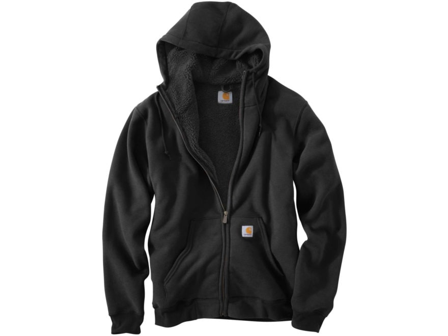 Carhartt Men's Collinston Brushed Fleece Sherpa-Lined Heavyweight Hooded Sweatshirt Cot...
