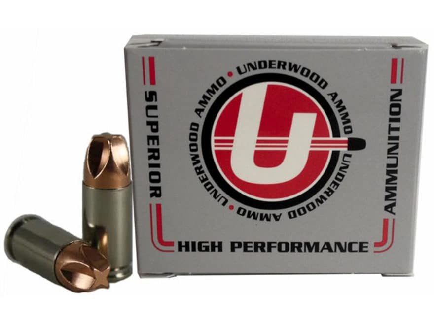 Underwood Xtreme Defender Ammunition 9mm Luger +P 90 Grain Lehigh Xtreme Defense Lead-F...