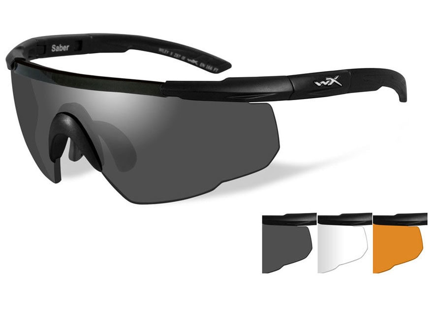 c190c2cf625 Wiley X Saber Advanced Changeable Series Safety Sunglasses Matte Black