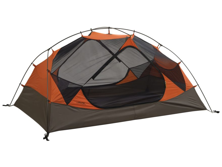 """ALPS Mountaineering Chaos 2 Dome Tent 86"""" x 56"""" x 40"""" Polyester Orange and Brown"""