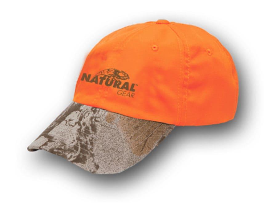 Natural Gear 6 Panel Logo Cap Cotton Blaze Camo