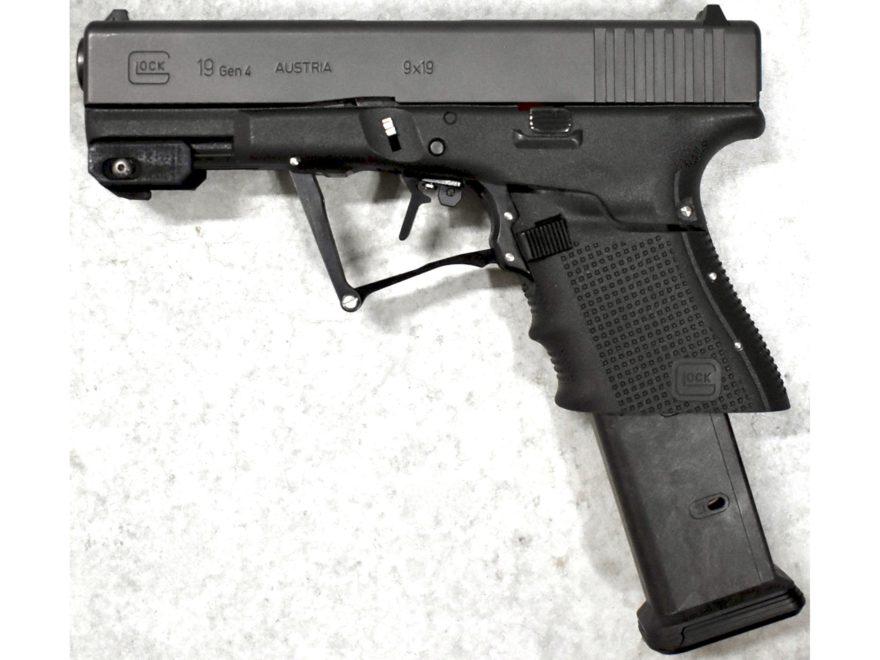 "Full Conceal M3D Folding Pistol 9mm Luger 4.02"" Barrel Compatible with Glock 19 Gen 4 2..."