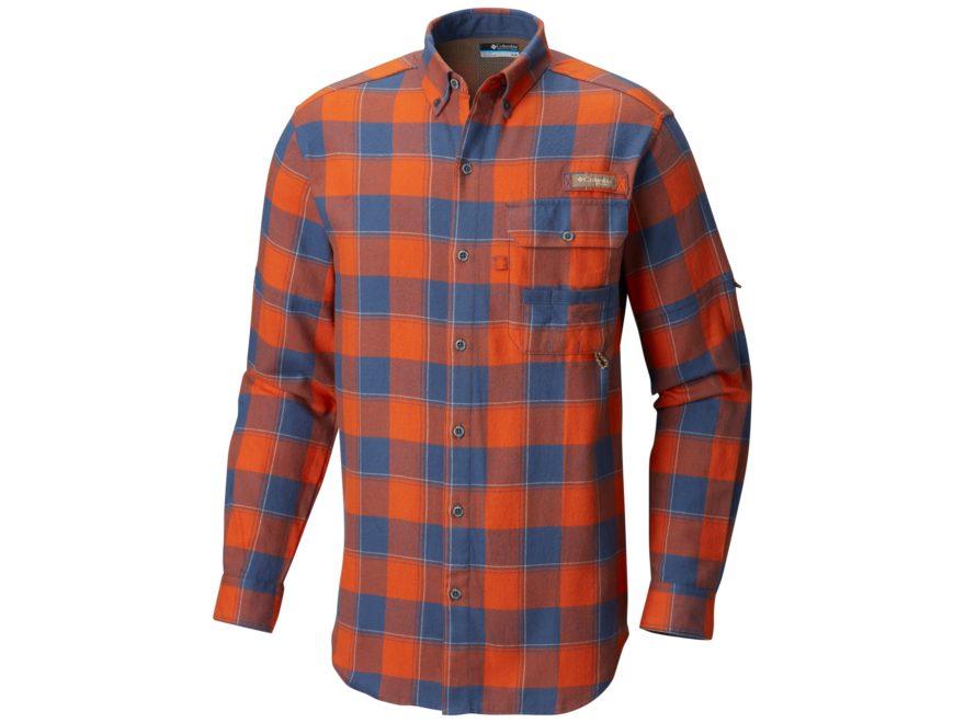 Columbia Men's PHG Sharptail Flannel Shirt Long Sleeve Cotton