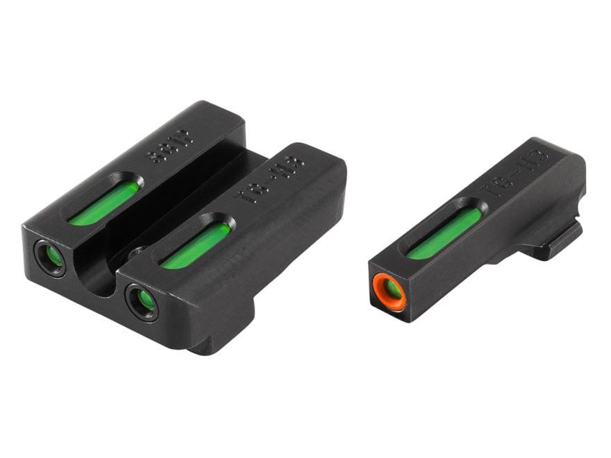 TRUGLO TFX Pro Sight Set Sig Sauer #8/#8 Tritium / Fiber Optic Green with Orange Front ...