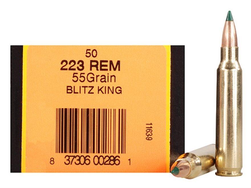 HSM Ammunition 223 Remington 55 Grain Sierra BlitzKing Polymer Tip Boat Tail