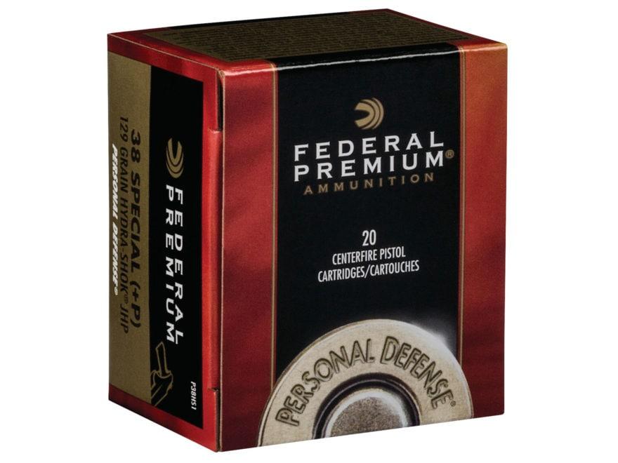 Federal Premium Personal Defense Ammunition 38 Special +P 129 Grain Hydra-Shok Jacketed...