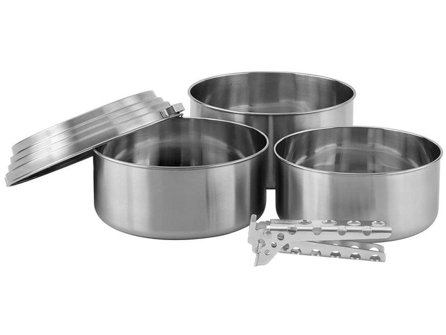 Solo Stove 3 Pot Set Stainless Steel