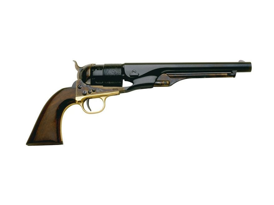 "Pietta 1860 Army Black Powder Revolver 44 Caliber 8"" Barrel Steel Frame Blue"