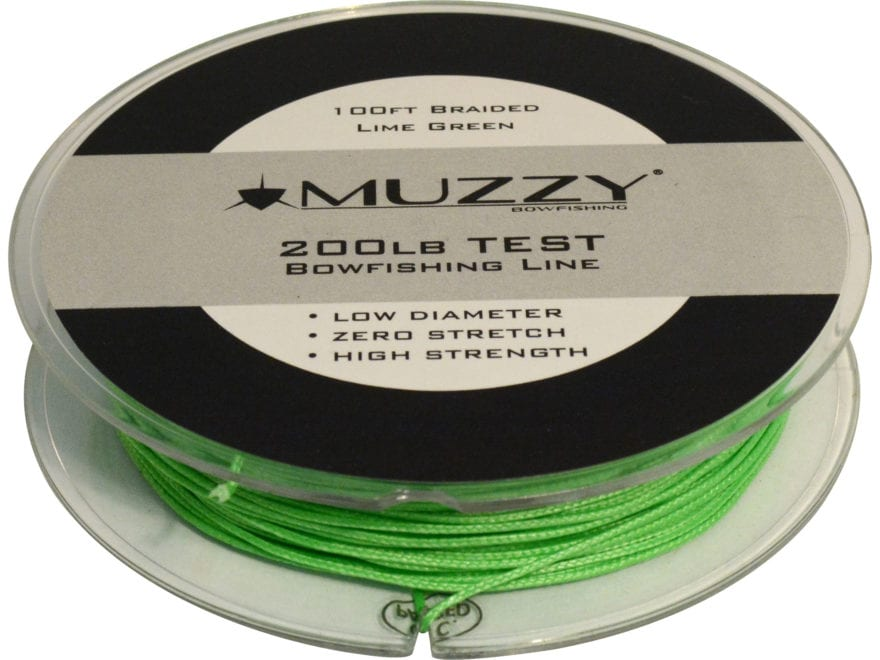 Muzzy 200# Bowfishing Line 100' Green