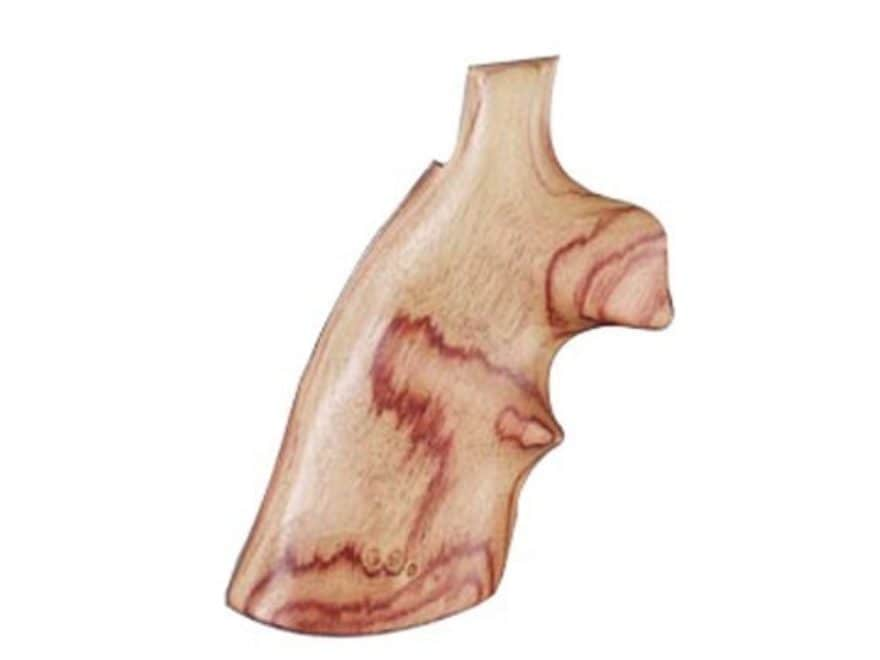 Hogue Fancy Hardwood Conversion Grips with Top Finger Groove S&W K, L-Frame Round to Sq...