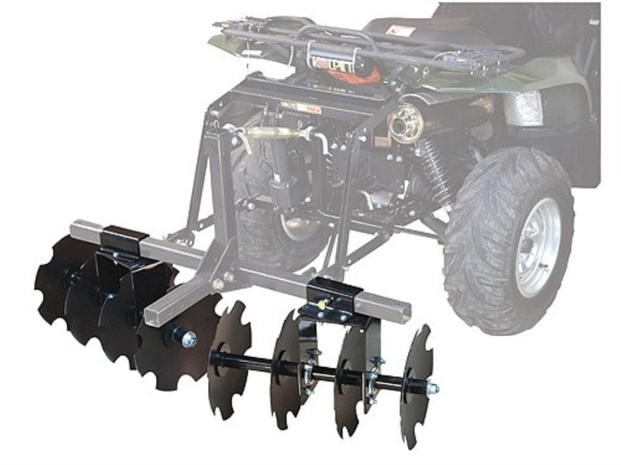 "Kolpin DirtWorks ATV 54"" Disc Plow Steel Black"