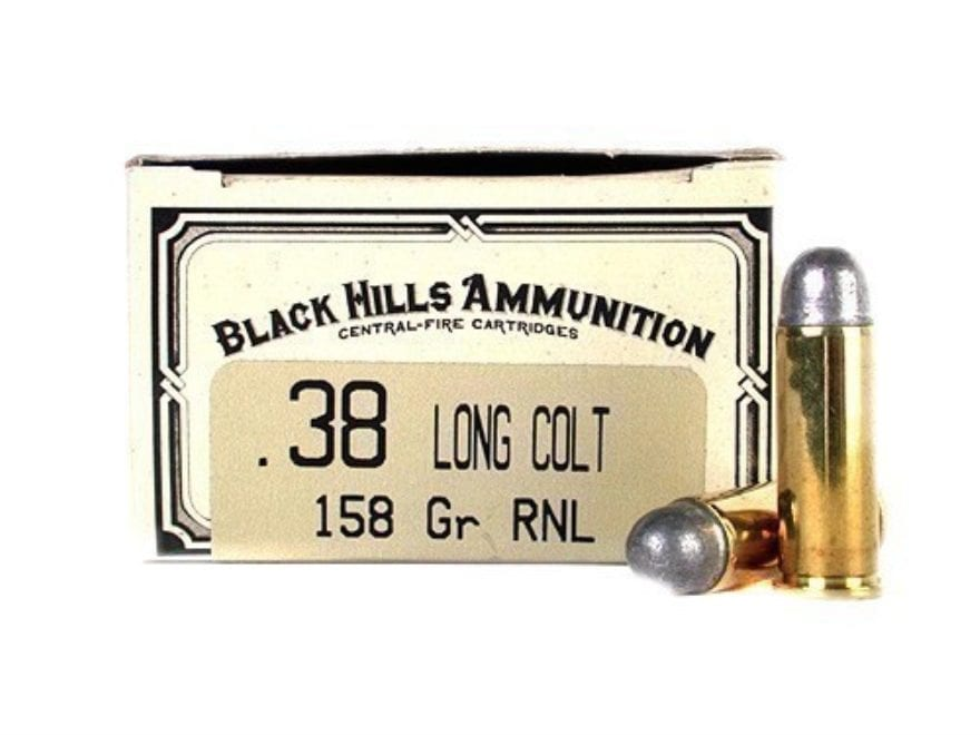 Black Hills Cowboy Action Ammunition 38 Long Colt 158 Grain Lead Round Nose Box of 50