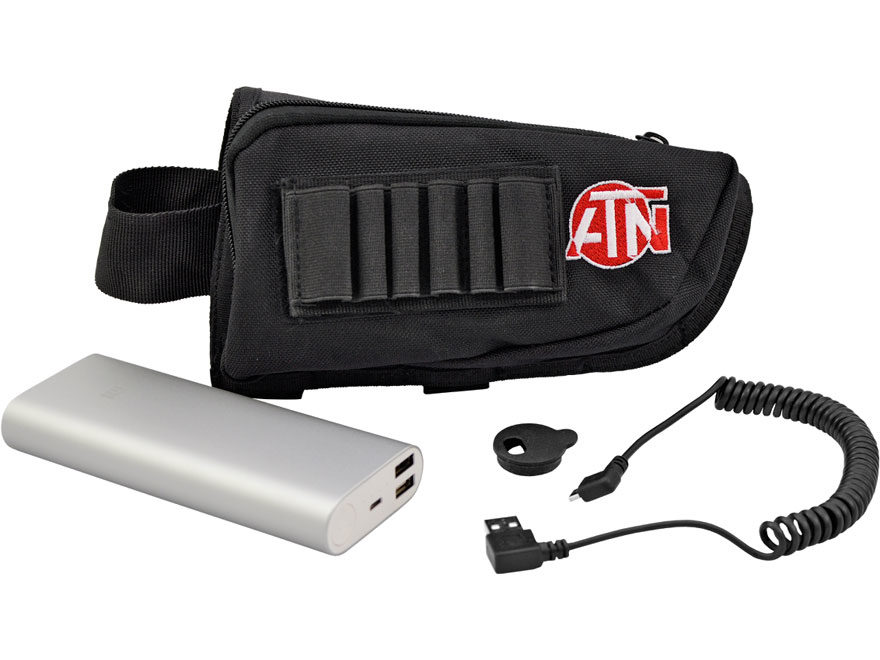 ATN Extended Life Battery Pack 20,000 mAh with MicroUSB Cable, Cap, Buttstock Case