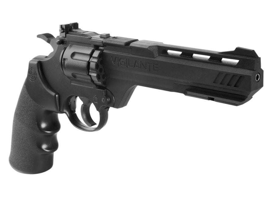Crosman Vigilante 357 Air Pistol 177 Caliber BB and Pellet Black Polymer Grips Blue Barrel