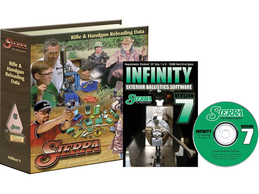 """Sierra """"Infinity Exterior Ballistic Software Version 7"""" CD-ROM and """"5th Edition Manual"""""""