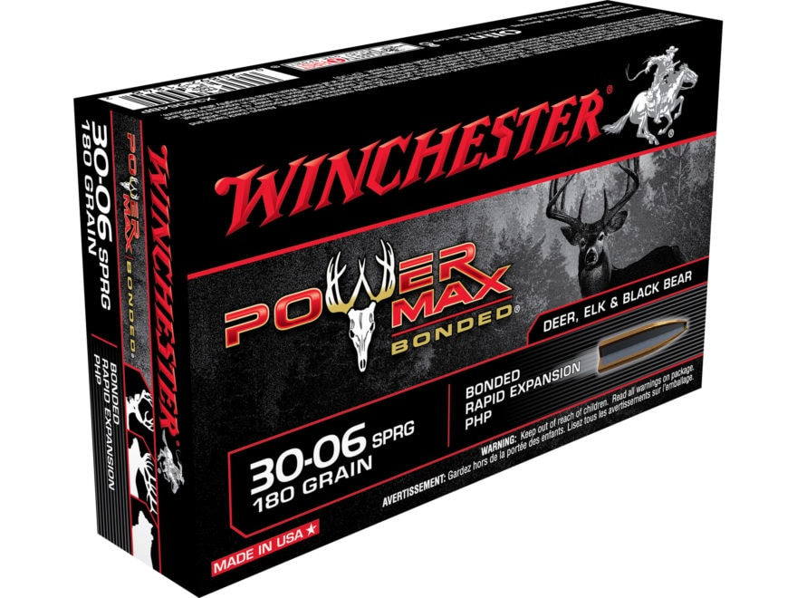 Winchester Power Max Bonded Ammunition 30-06 Springfield 180 Grain Protected Hollow Point