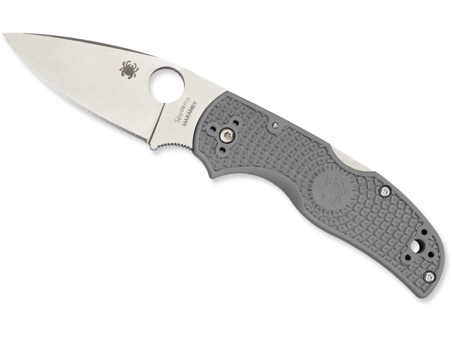 "Spyderco Native 5 Folding Knife 2.95"" Drop Point Micro-Melt Maxamet Steel Blade FRN Han..."