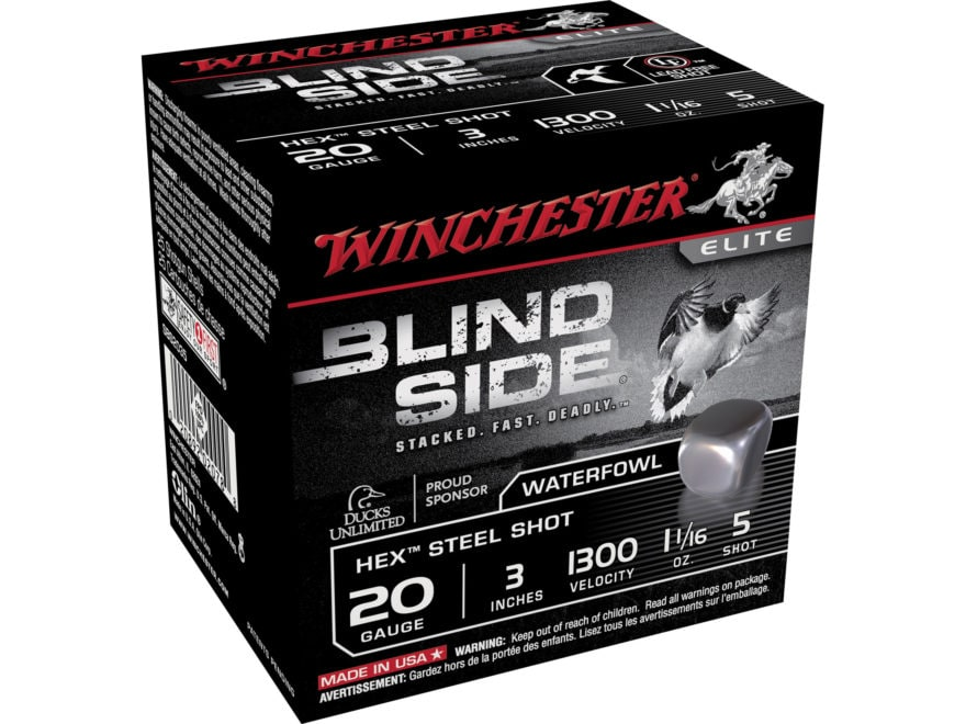 "Winchester Blind Side Ammunition 20 Gauge 3"" 1-1/16 oz Non-Toxic Steel Shot"