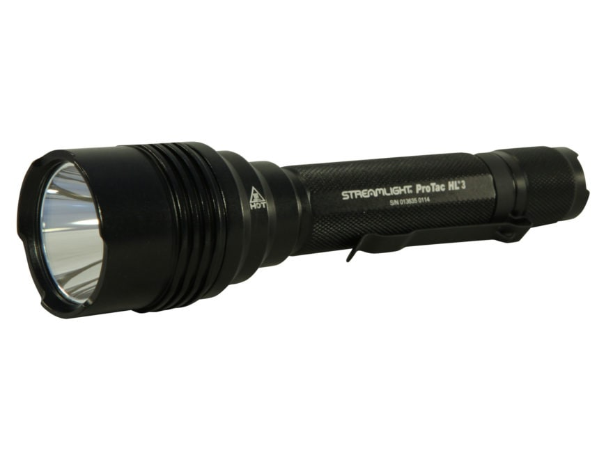 Streamlight ProTac HL 3 Flashlight LED with 3 CR123A Batteries Aluminum Black