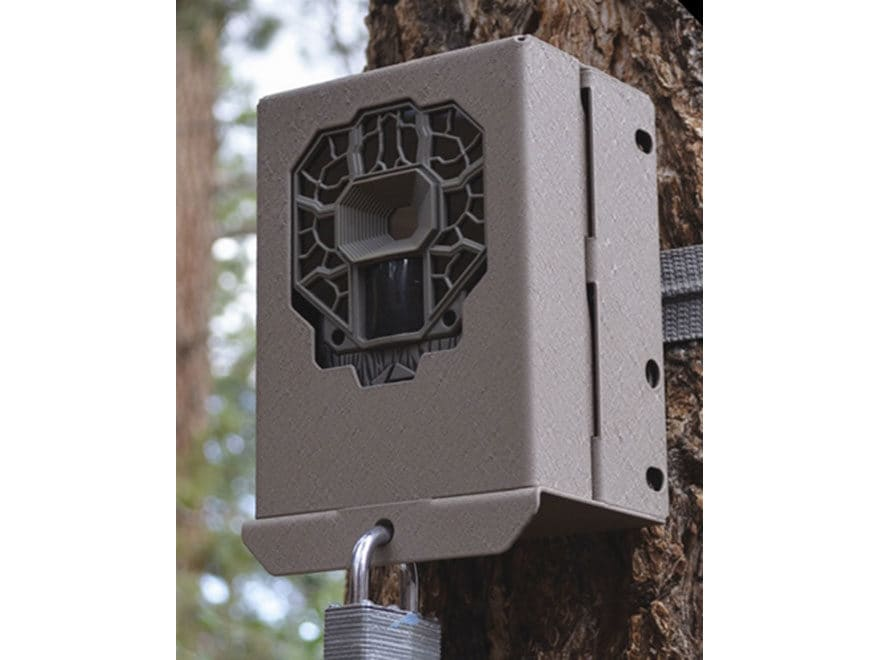 Stealth Cam 4-K Series Game Camera Security Box Brown Steel