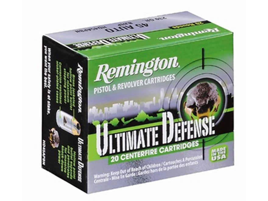 Remington HD Ultimate Defense Ammunition 38 Special +P 125 Grain Brass Jacketed Hollow ...