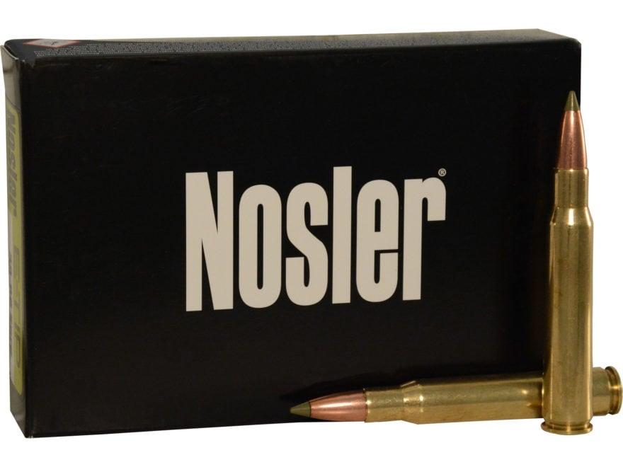 Nosler E-Tip Ammunition 30-06 Springfield 180 Grain E-Tip Lead-Free Box of 20