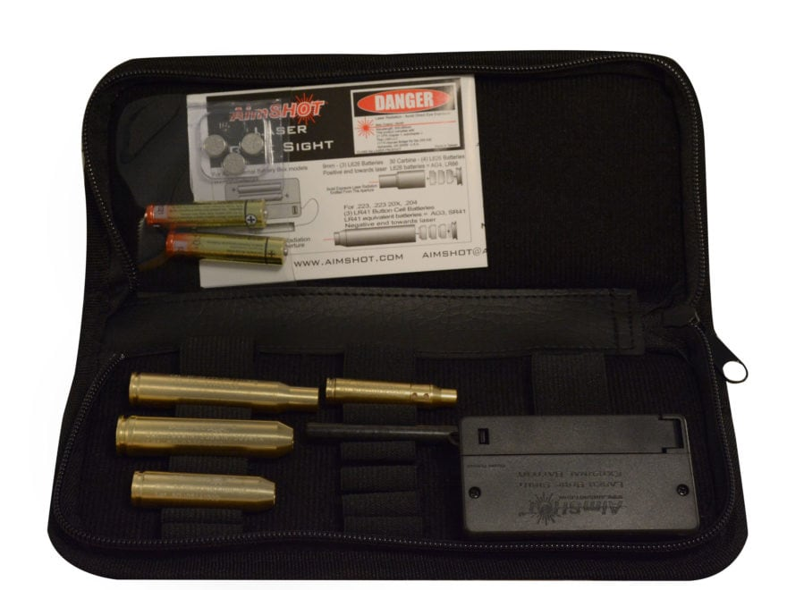Aimshot Rifle Kit Red Laser Modular Bore Sight 223 with Arbors for 243 Win, 308, 7mm-08...