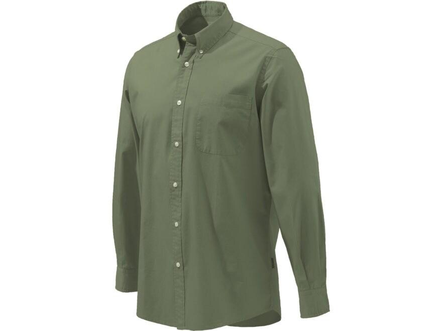 Beretta Men's Four Seasons Classic Button-Up Shirt Long Sleeve Cotton