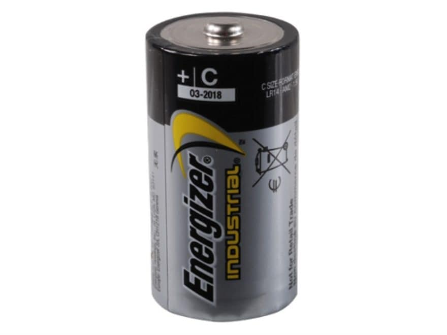 Energizer Battery C Industrial EN93 1.5 Volt Alkaline Pack of 12