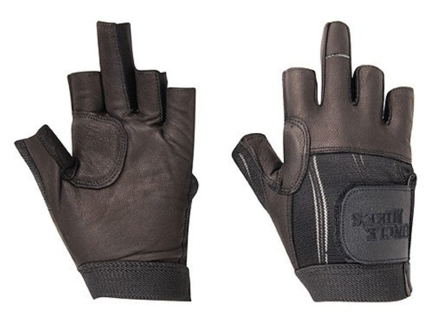 Uncle Mike's Shooting Gloves Fingerless Leather Black ...