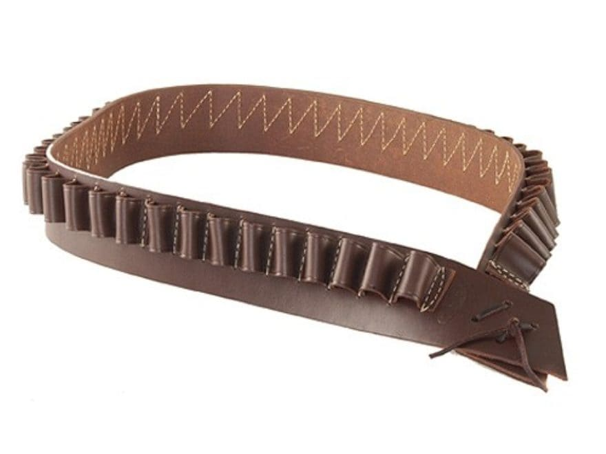 Hunter 712 Bandolero Shotshell Cartridge Belt 12 or 16 Gauge 50 Loops Leather Antique B...