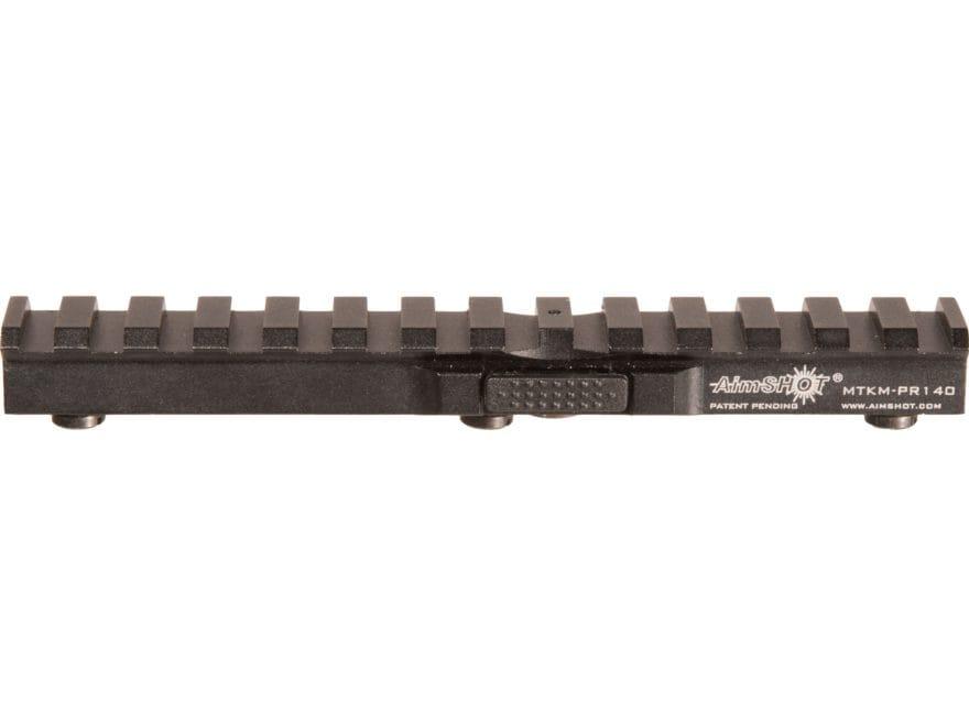 "Aimshot KeyMod Quick Release Picatinny Rail 5-1/2"" Aluminum Black"