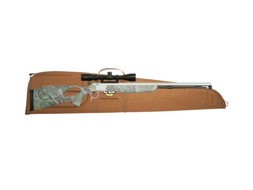 """CVA Optima V2 LR Muzzleloading Rifle with KonusPro 3-9x40mm Scope 50 Caliber 28"""" Fluted..."""