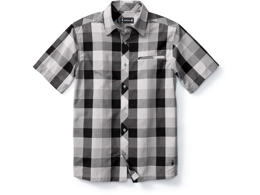 Smartwool Men's Everyday Exploration Retro Plaid Button-Up Shirt Short Sleeve Merino Wo...