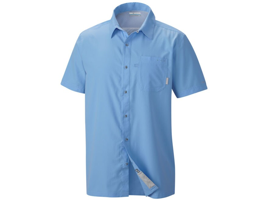 Columbia Men's PFG Slack Tide Camp Shirt Short Sleeve Polyester