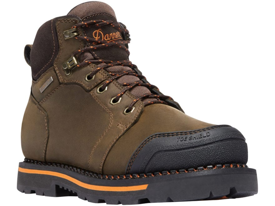 "Danner Trakwelt 6"" Waterproof Work Boots Leather Brown Men's"