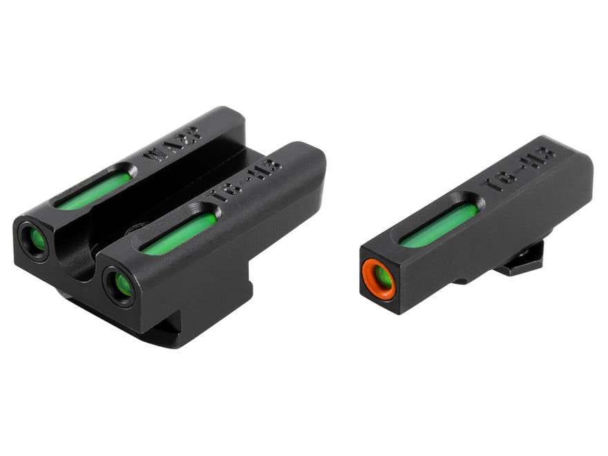 TRUGLO TFX Pro Sight Set Walther PPS Tritium / Fiber Optic Green with Orange Front Dot ...